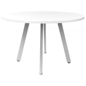 Eternity Round Office Meeting Table, 90cm, White