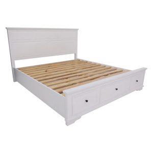 Eugene Timber Bed Wood White Wash Dover Mason