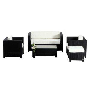 Finn Outdoor 5-Piece Sofa Set Aluminium Dark Brown Homeflex
