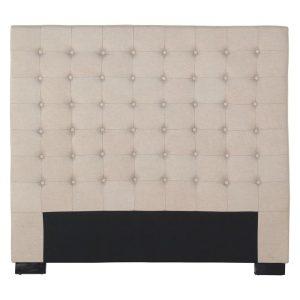 Heathly Upholstered Bed Head, Beige Fabric Rothbury Home