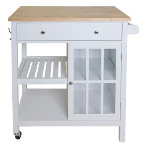 Montauk Kitchen Trolley MDF White Meubilair