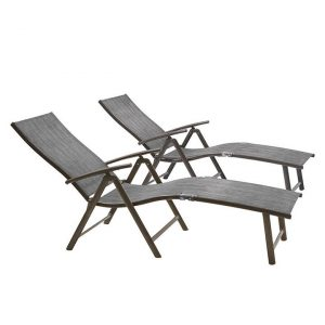 Myla Set of 2 Outdoor Chaise Lounge Chair Synthetic Fibre Assorted Homeflex