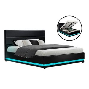 Regina LED Storage Bed Faux Leather Assorted Resort Living