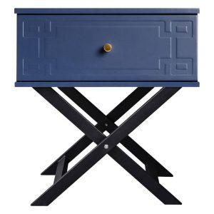 Royal N Bedside Table, Navy Blue MDF Assorted Emma's Design