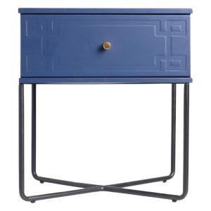 Royal W Bedside Table, Navy Blue MDF Assorted Emma's Design